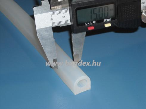 Szilikon D profil 15 mm-es talpszélességgel