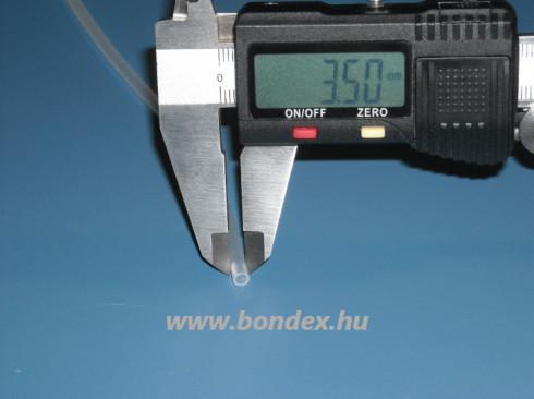 2,5x3,5 mm szilikon tömlő
