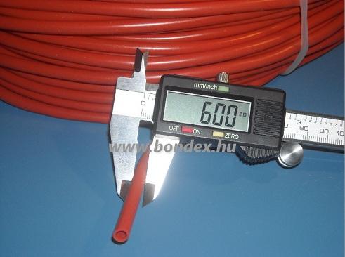 4x6 mm-es vörös szilikon tömlő