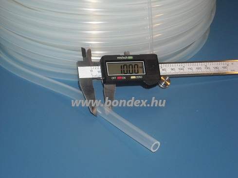 7x10 mm szilikon tömlő