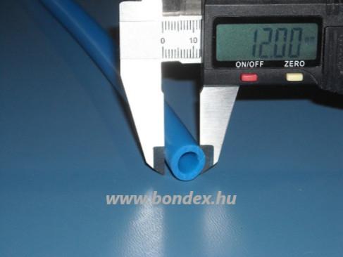 8x12 mm-es kék szilikon tömlő