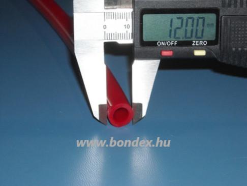 8x12 mm-es piros szilikon tömlő