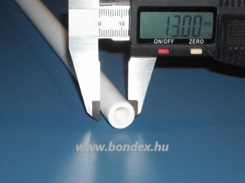 8x13 mm-es fehér szilikon tömlő