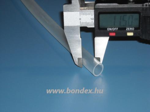 9x11,5 mm szilikon tömlő