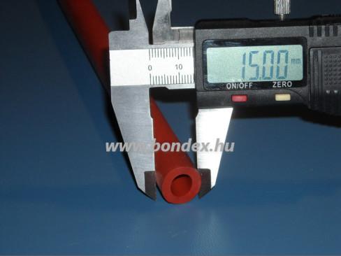 9x15 mm hőálló vörös szilikon cső