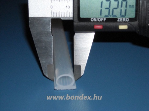 Ragasztható szilikon omega ablaktömítő profil (8X10 mm)