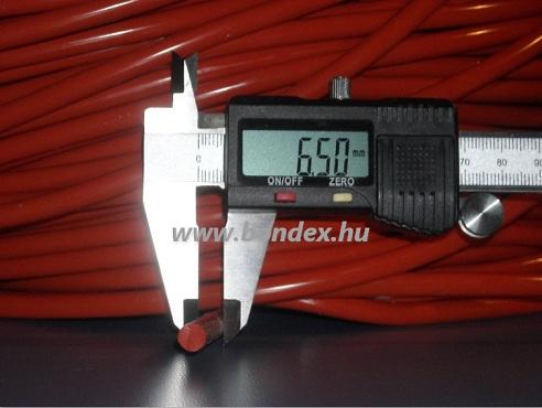 6,5 mm hőálló vörös szilikon zsinór 250 C