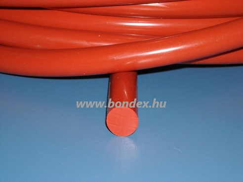 9 mm hőálló vörös szilikon zsinór 250 C