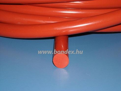 10 mm hőálló vörös szilikon zsinór 250 C