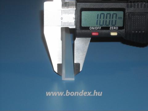 Szilikon L alakú éltakaró profil 10x10 mm