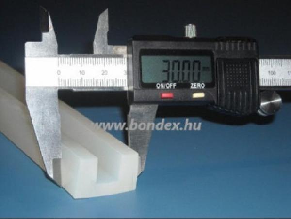 Szilikon élvédő profil 12mm lemez vastagsághoz