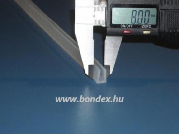 Szilikon élvédő profil 4mm lemez vastagsághoz