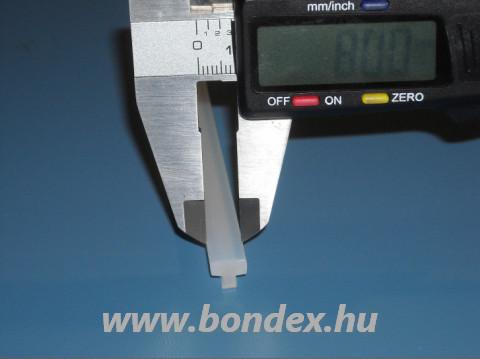 Hegesztő gép szilikon T profil 8 mm szélességben