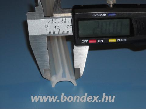 Íves éltömítő szilikon profil 3 mm-es élre