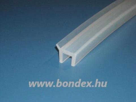 Zuhanykabin vízvető profil szilikonból 10 mm-es üveghez