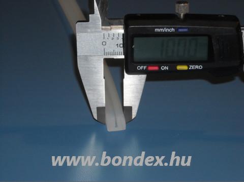 Lemezbefogó szilikon U profil 1 mm vastag élhez