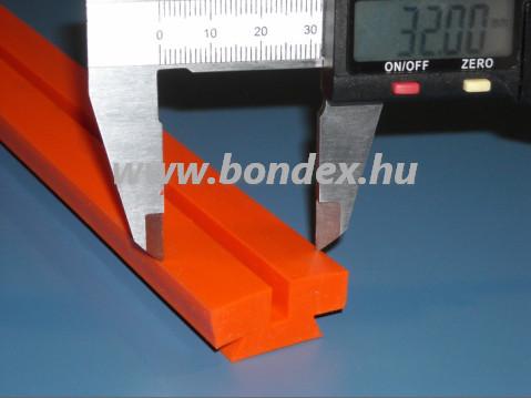 Fóliahegesztő szilikon profil (fűtőszál alátét +260 C-ig hőálló)