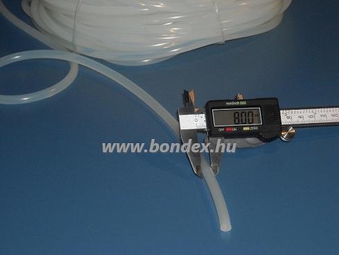 Pálinkafőző sisak tömítő zsinór 8 mm hőálló szilikon