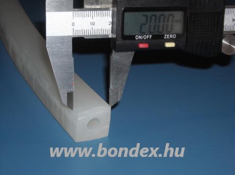 20x20mm-es furatos szilikonszalag pálinkafőző fedéltömítés