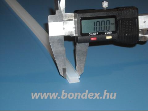 Fóliahegesztő szilikon H profil 10mm széles