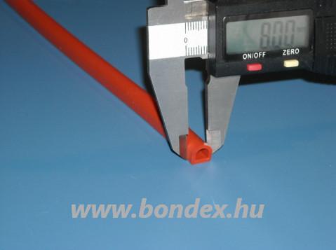 Emelt hőállóságú szilikon D profil 8x8 mm