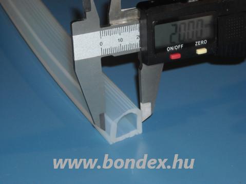 Szilikon D profil tömítés 18/20 mm