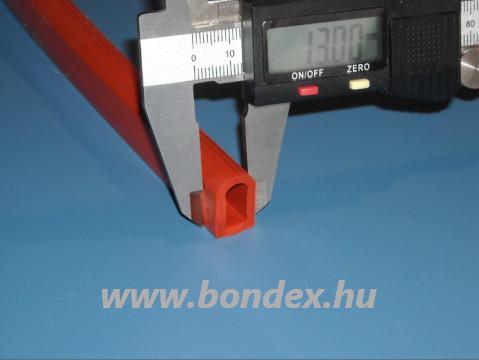 Szilikon D profil kemence tömítés 13/18 mm