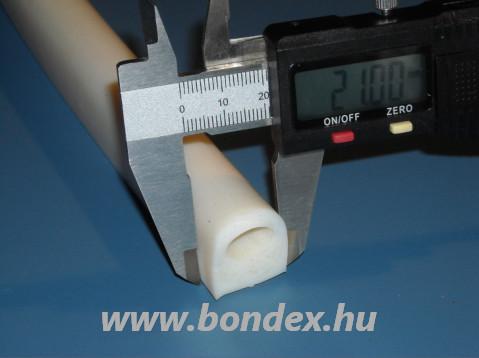 Kemence tömítő szilikon D profil 21x23,5 mm 11 mm-es furattal
