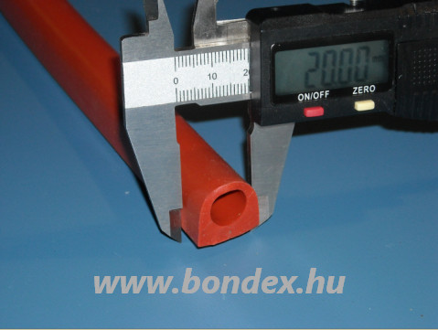 Kemence tömítő szilikon D tömítés 20x17,5 mm, 12 mm-es furattal