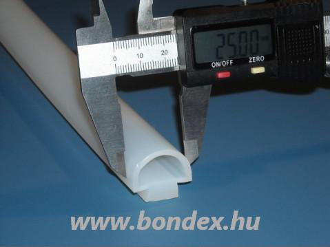 Nútba húzható szilikon D tömítés 25 mm