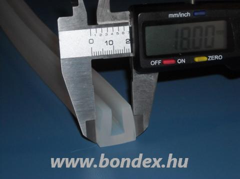 Vastagfalú 8 mm-es szilikon élvédő U profil