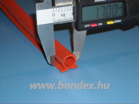 Hőálló kemenceajtó tömítés ( 12 mm-es omega profil )