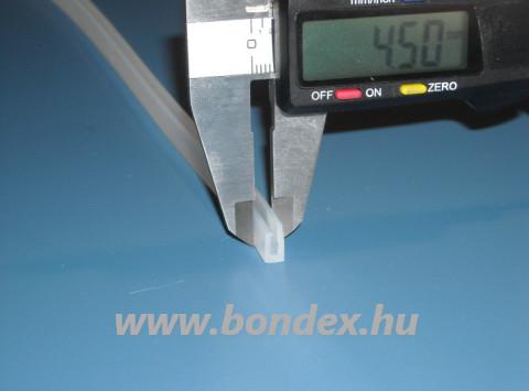 Egyenlőtlen szárú szilikon élvédő 1,5 mm-es lemez élhez