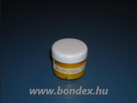 Sárga színű szilikon színezőpaszta és festék pigment Rubosil önthető szilikon gumihoz