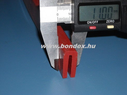Szilikon élvédő U profil 2mm-es lemezvastagsághoz