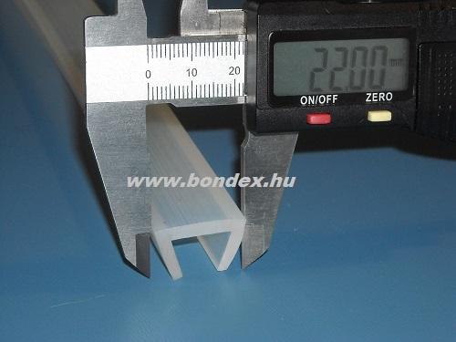 Szilikongumi élvédő 15 mm-es lemezvastagságra