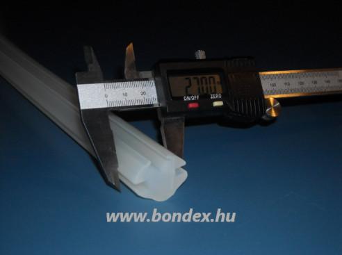 Ékszorításos szilikon lemezrögzítő H profil