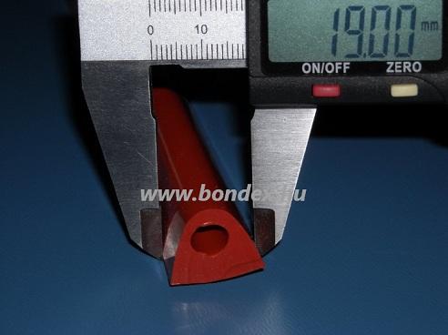 magas hőállóságú szilikon kemence tömítés ( üreges D profil  )